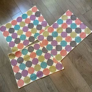 3 Crate & Barrel Multi-Color Cloth Placemats